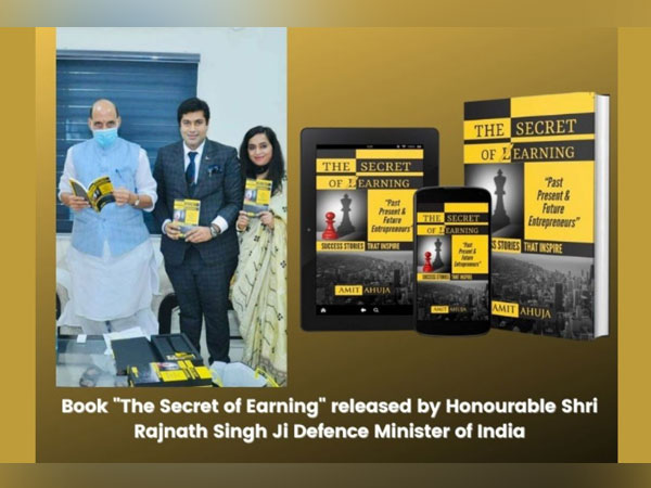 Defence Minister Rajnath Singh released pioneer Indian author Amit Ahuja's book
