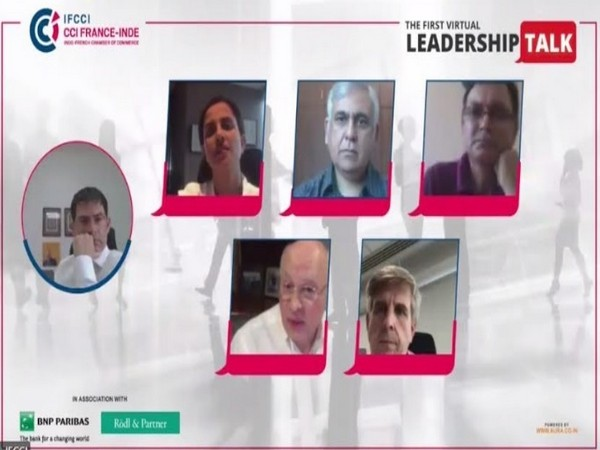 The Virtual Leadership talk curated by IFCCI in progress featuring prominent speakers discussing the future of business in India