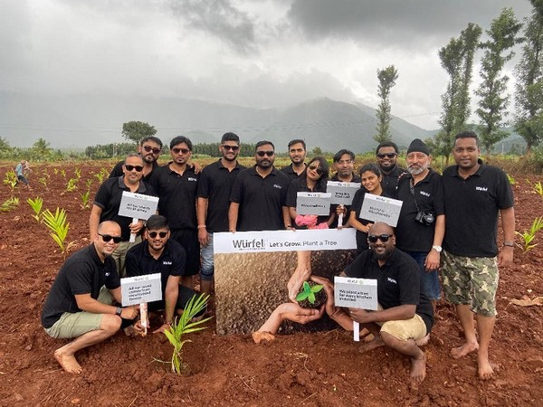 The Wurfel team planting trees as a part of their #GoGreener Initiative in Chikmagalur