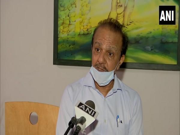 Kuldeep Sharma, a theatre artist in Chandigarh speaking to ANI on Thursday. (Photo/ANI)