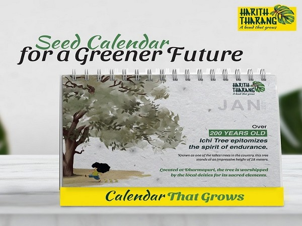 Thematic seed paper calendar that stresses about preserving trees for the future generation