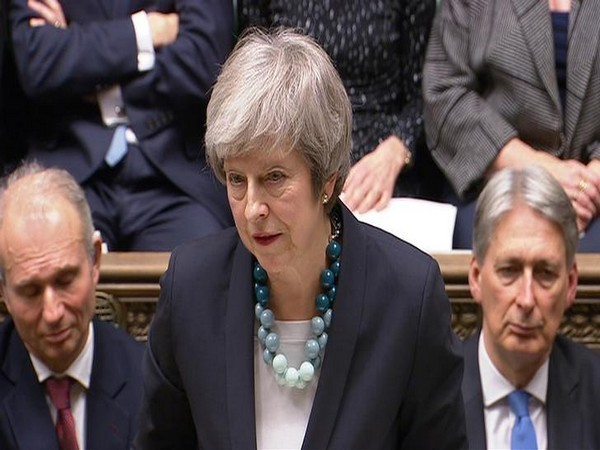 British Prime Minister Theresa May at the UK Parliament in London on Wednesday.