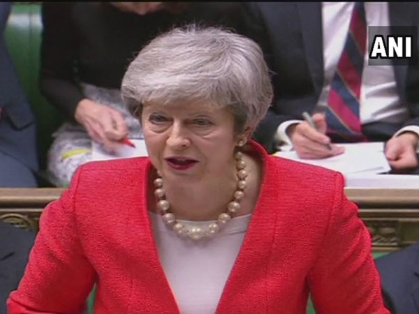 British Prime Minister Theresa May at the UK Parliament in London on Thursday.
