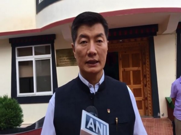 Lobsang Sangay, President, Central Tibetan Adminstration speaking to ANI on Tuesday. Photo/ANI