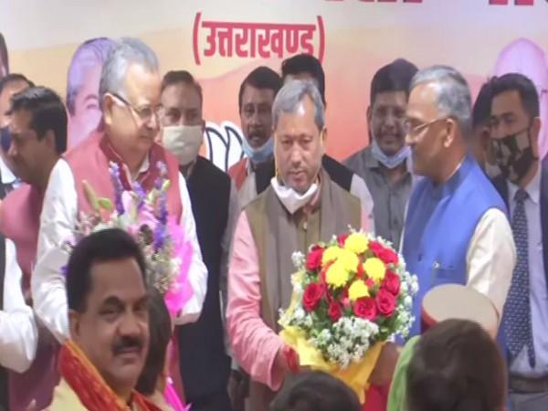 Tirath Singh Rawat, Lok Sabha MP from Garhwal, was elected as leader of BJP legislature party on Wednesday.