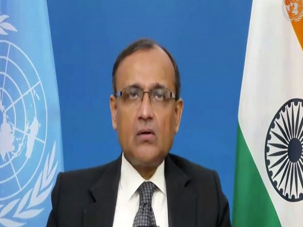 TS Tirumurti, India's Permanent Representative, speaking at the UNSC during Open Debate on 'The Situation in the Middle East, including the Palestinian question' on Tuesday.