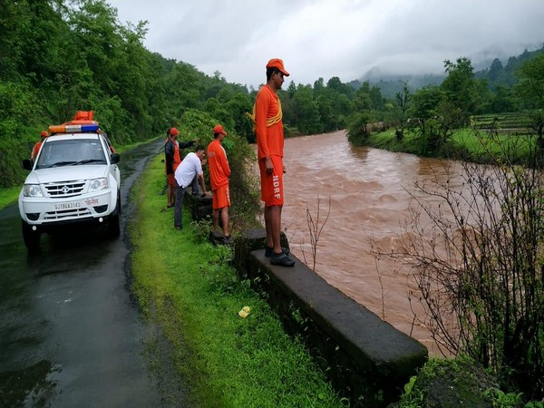 NDRF personnel conducting search operation in Tiware Dam area on Sunday. (Photo/ANI)