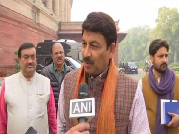 BJP leader Manoj Tiwari speaking to ANI in New Delhi on Wednesday. Photo/ANI