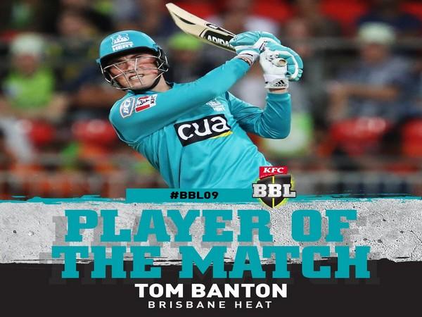 Tom Banton (Image: BBL's Twitter)