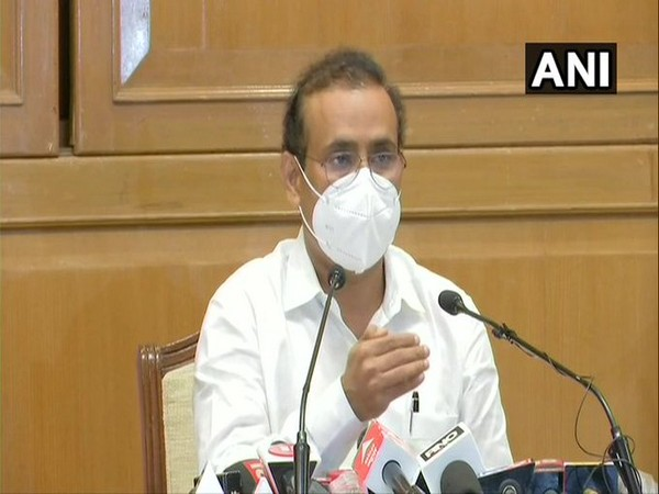 Health Minister Rajesh Tope addressing a press conference on Wednesday in Mumbai.