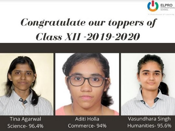 Toppers of Class 12th - Elpro International School