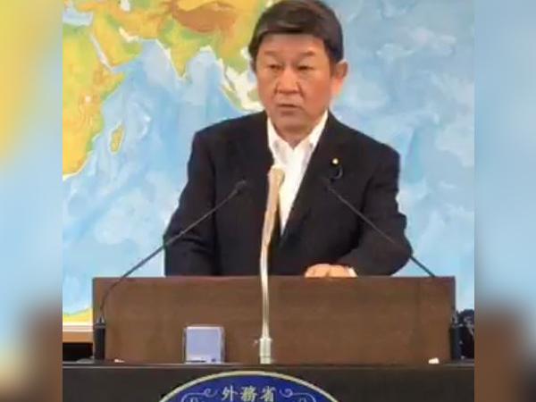 Japanese Foreign Minister Toshimitsu Motegi (Photo credit: Japanese MFA twitter)