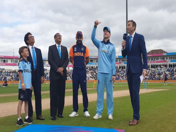 England won the toss, opted to bat first against India here on Sunday. (Photo/ BCCI Twitter)
