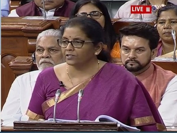 Finance Minister Nirmala Sitharaman presenting the Union Budget 2019-20 in the Lok Sabha on Friday. (Pic courtesy: LS TV)