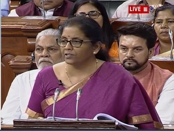 Union Finance Minister Nirmala Sitharaman in Lok Sabha.