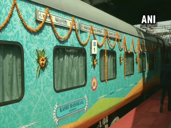 The superfast fully air-conditioned passenger train will connect three Jyotirlinga - Omkareshwar (near Indore), Mahakaleshwar (Ujjain) and Kashi Vishwanath (Varanasi). Photo/ANI