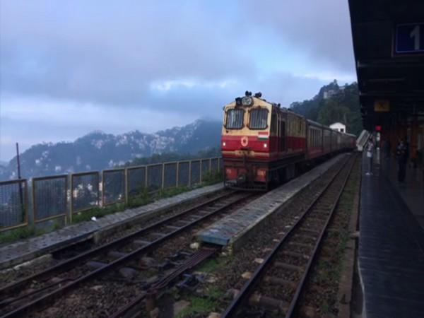 Special train service started on the Kalka-Shimla heritage line on Sunday. (Photo/ANI)