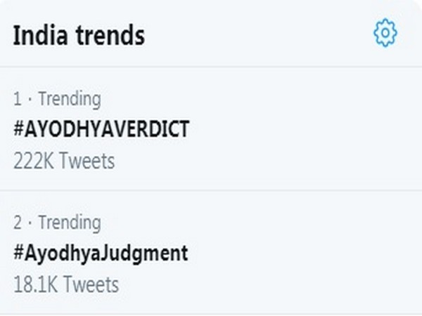 Ayodhya verdict trends on Twitter