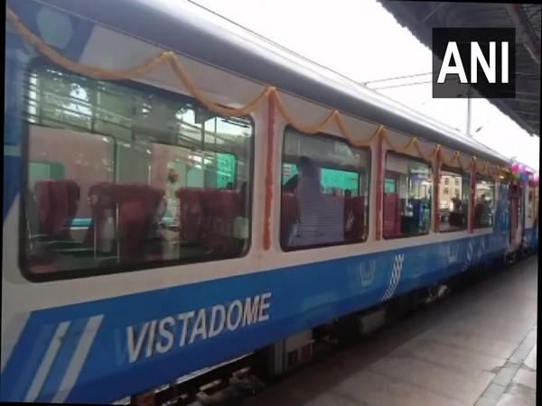 Karnataka's first train with two Vistadome coaches (Photo/ANI)