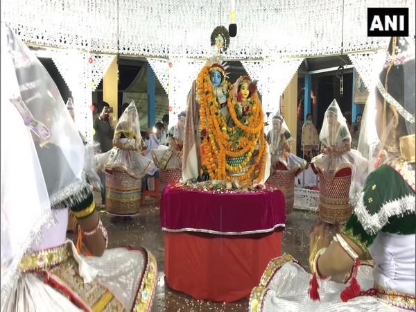 Devotees celebrate Kartik Purnima in Tripura (Photo ANI)