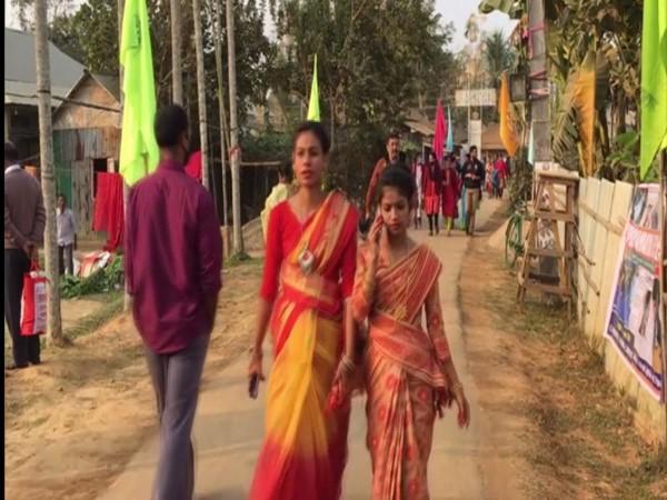 Visitors at Poush Parban Fair.