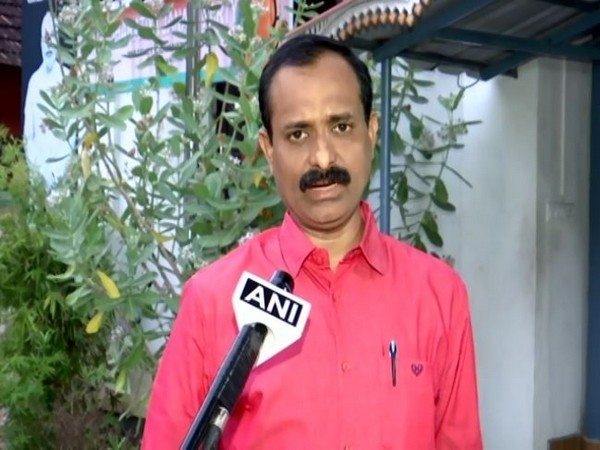Thiruvananthapuram BJP district president VV Rajesh speaking to ANI on Saturday. (Photo/ANI)