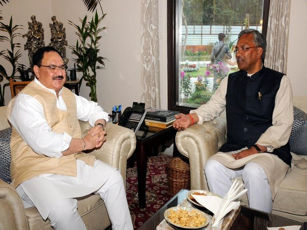 Trivendra Singh Rawat meets JP Nadda in Delhi