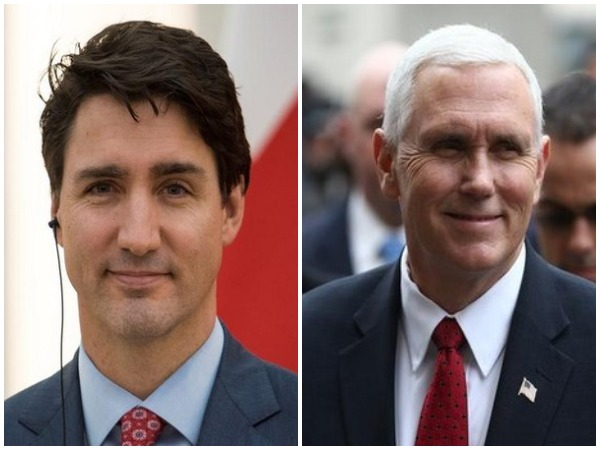 Canadian Prime Minister Justin Trudeau and US Vice President Mike Pence