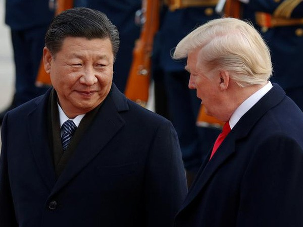 Chinese President Xi Jinping with his US counterpart, Donald Trump