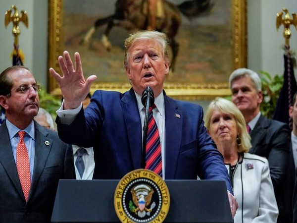 US President Donald Trump addressing a press conference at White House on Thursday.