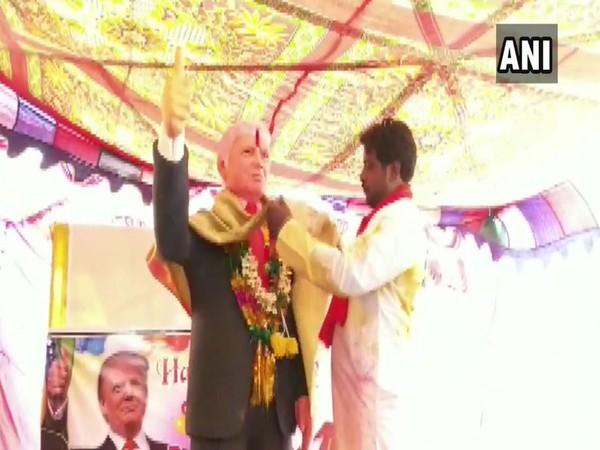 Bussa Krishna unveils statue of US President Donald Trump on his birthday