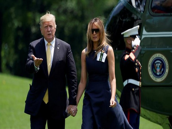 President Donald Trump and his wife Melania Trump return to the White House after their visit to Japan.