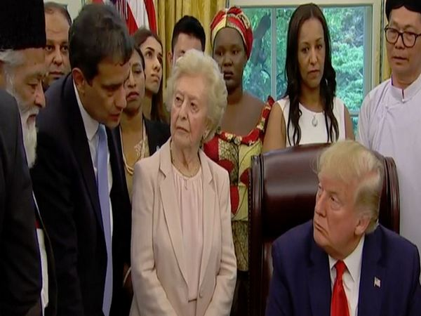 US President Donald Trump meeting with victims of religious persecution from various countries at White House on Wednesday.