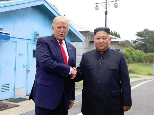 US President Donald Trump and North Korean leader Kim Jong-un at the Demilitarised Zone earlier this month. (File photo)