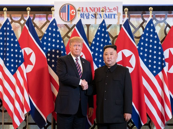 US President Donald Trump and North Korean Leader Kim Jong-un at the second summit in Vietnam