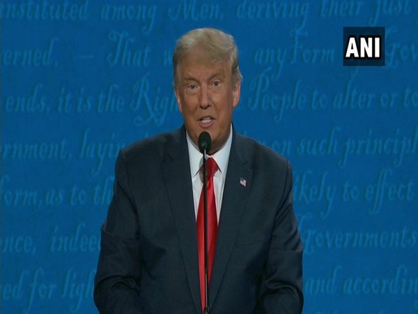 US President Donald speaking over the issue of climate change during the final president on Thursday (local time).