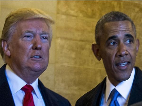 United States President Donald Trump and former President Barack Obama