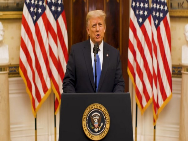 United States President Donald Trump speaking about shutdown from the White House on Saturday