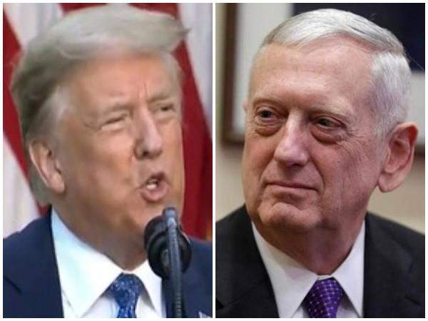 US President Donald Trump and Former US Secretary of Defence James Mattis
