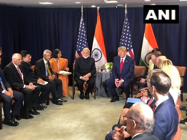 The US-India bilateral underway in New York on Tuesday. (Photo/ANI)