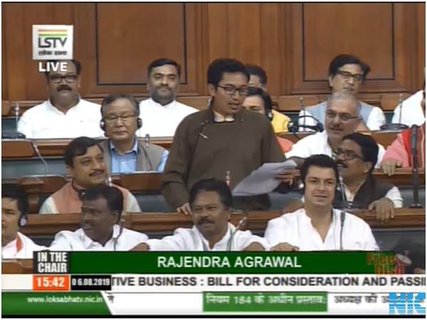 BJP MP from Ladakh Jamyang Tsering speaking in Lok Sabha on Tuesday