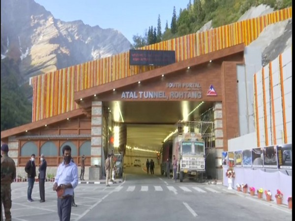 Atal Tunnel set to be inaugurated by PM Modi tomorrow Photo/ANI