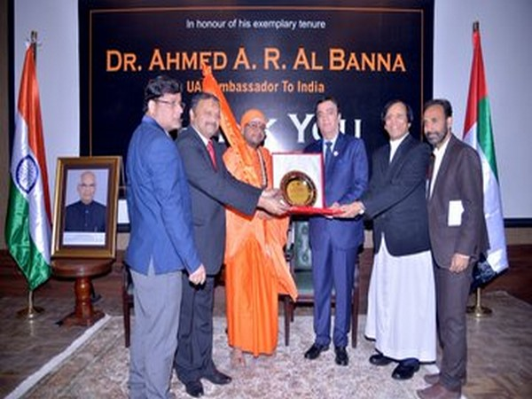 UAE envoy to India Dr Ahmed Al Banna honoured for his exemplary services at a ceremony in New Delhi on Wednesday.