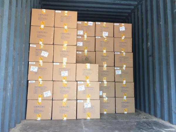 5 lakh Favipiravir Tablets reached India from UAE (Photo/Credit: Twitter/ @MEAIndia)