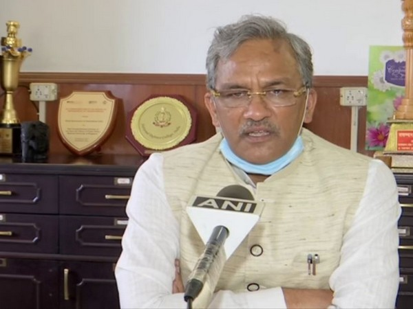 Uttarakhand Chief Minister Trivendra Singh Rawat speaking to ANI in Dehradun on Monday. (Photo/ANI)