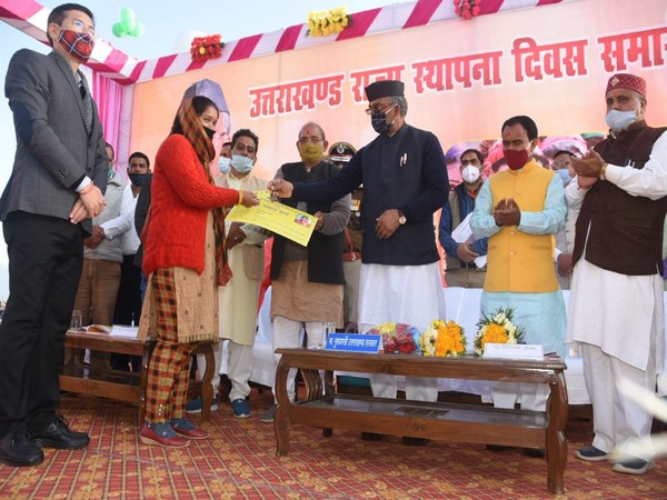 Uttarakhand CM Trivendra Singh Rawat on Monday distributed digital ration cards under 'One Nation One Ration Card' on the occasion of state formation day at summer capital Bhararisen.