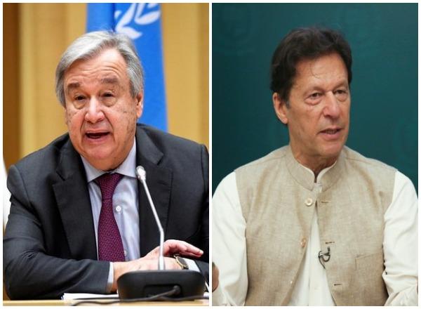 Pakistan Prime Minister Imran Khan spoke with UN Secretary-General Antonio Guterres on Saturday.