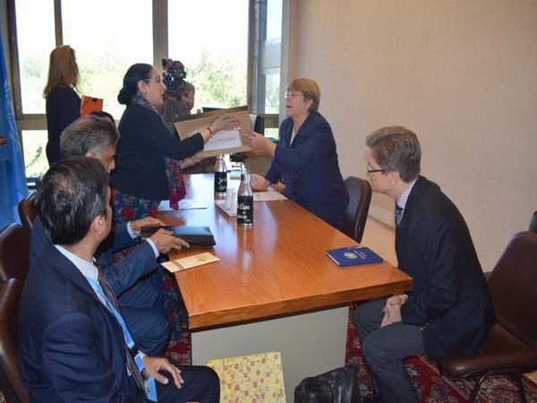 A high-level delegation led by MEA Secretary (East) Vijay Thakur Singh meets UN High Commissioner for Human Rights, Michelle Bachelet in Geneva on Thursday.