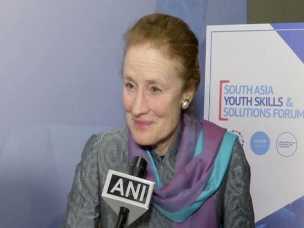 UNICEF Executive Director Henrietta Fore speaking to ANI in Mumbai on Wednesday. Photo/ANI