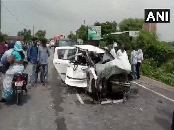 visuals from the accident on July 28, in which the Unnao rape survivor and her lawyer were critically injured. (File photo)